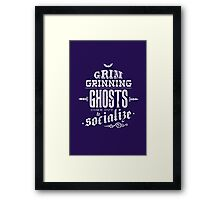 Haunted Mansion - Grim Grinning Ghosts Framed Print