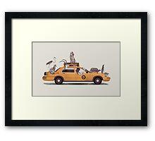 1-800-TAXI-DERMY Framed Print