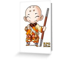 RPG Rules. Monk Greeting Card