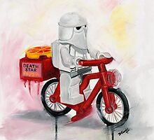 Death Star Pizza delivery by Deborah Cauchi