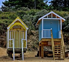 Norfolk Beach Huts  by Avril Harris
