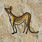 Cave Art - Cheetah by Jan Szymczuk