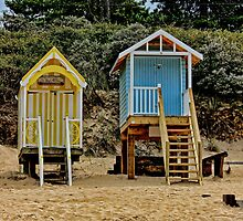 Wells next the sea beach huts by Avril Harris