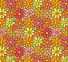 Intensive Colorful Flower Pattern by amovitania
