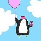 Penguin with Balloon by zoel