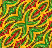 Tropical Colors Abstract Geometric Print by DFLCreative