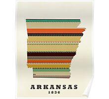 arkansas state map Poster