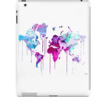 Blue Purple WATERCOLOR MAP iPad Case/Skin