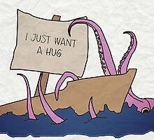Squid Wants a Hug by monicabiltz