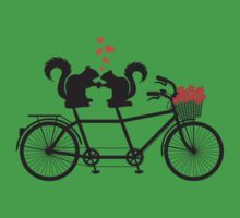 tandem bicycle with squirrels Kids Clothes