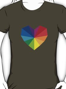 colorful geometric heart T-Shirt