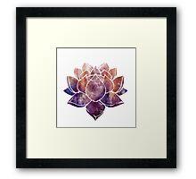 Buddhist Lotus Flower Framed Print