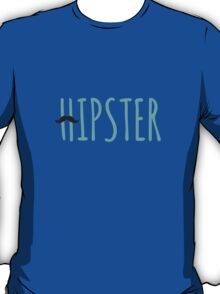 hipster, word art, text design with mustache for  t-shirt T-Shirt