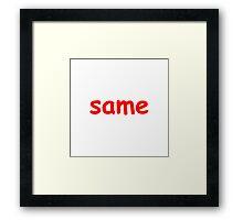 same Framed Print