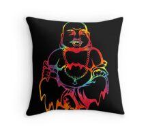 Melting Tie-Dye Buddha Throw Pillow