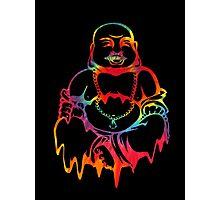 Melting Tie-Dye Buddha Photographic Print