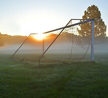 Goal In The Morning Mist by Jeff Alexander