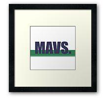 Mavs. Framed Print