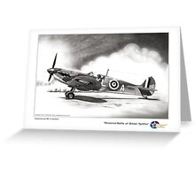 Restored Battle of Britain Spitfire Greeting Card
