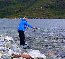 Evening Angler by lezvee