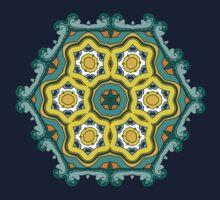Psychedelic jungle kaleidoscope ornament 2 T-Shirt