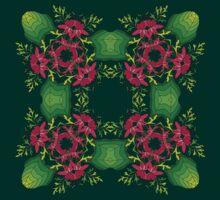 Psychedelic jungle kaleidoscope ornament 6 T-Shirt