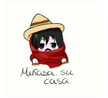Mikasa, su casa. Art Print
