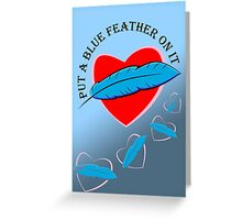 Blue Feather Love Greeting Card