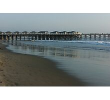 Pastel California Sunset at San Diego's Crystal Pier  Photographic Print