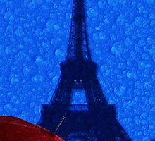 Paris in the rain by Andrew Bret Wallis