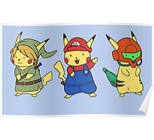 Nintendo Pikachus Poster