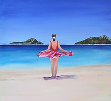 Shoal Bay Beach by Mike Paget