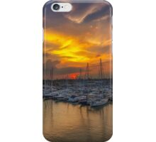Lymington Yacht Haven Sunset iPhone Case/Skin