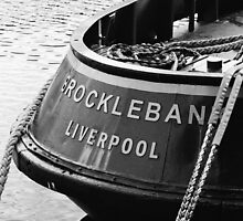 boat in Liverpool DOck by sledgehammer