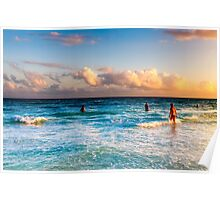 The Colorful Caribbean Sea - Playa del Carmen Mexico Poster