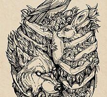Caged Print by WOLFSKULLJACK