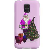 Santa Claus Dressed In Pink Samsung Galaxy Case/Skin