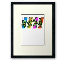 TMNT Turtles in Time Characters Framed Print