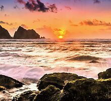 Seaside sunset by JEZ22