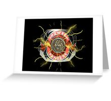 It's Morphin Time - SABER-TOOTH TIGER Greeting Card