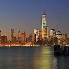 lower Manhattan One World Trade Center Taken From pier A Hoboken NJ. by pmarella