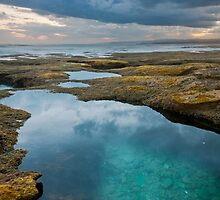 Sunset Pool,Point Roadknight. by Darryl Fowler