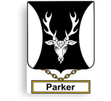 Parker Coat of Arms (English) Canvas Print
