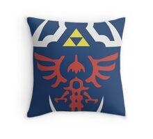 Zelda Triforce/Hylian Shield Design Throw Pillow