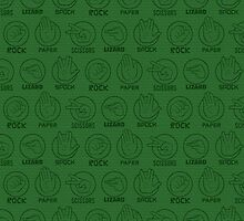 Rock, Paper, Scissors, Lizard, Spock Green by Kelly Street