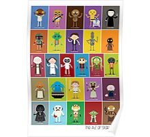 The Star Wars Alphabet Poster