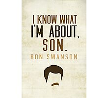 I Know What I'm About, Son Photographic Print
