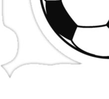 I Love Soccer Ball Basketball Sticker