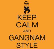 Keep Calm And Gangnam Style Black T-shirt Size S M L XL by beardburger