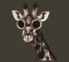 Giraffe With Steampunk Sunglasses Goggles by TheShirtYurt